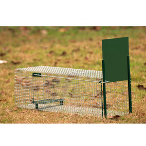 Boîte à fauve 1 entrée, 82 x 32 x 31 cm, pour renard ou fouine