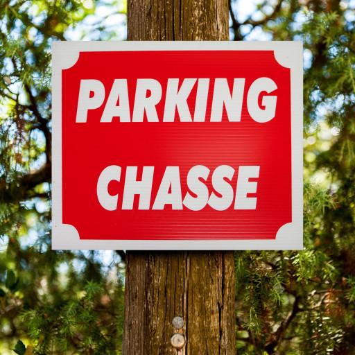 """Panneau """"PARKING CHASSE"""" en Akilux"""