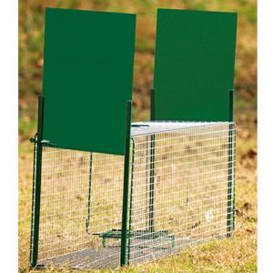 Boîte à fauve 2 entrées, 130 x 36 x 47 cm pour renard