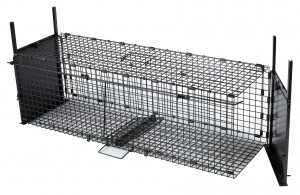 Cage pliante à portes tombantes 100 x 30 x 30 cm pour renard