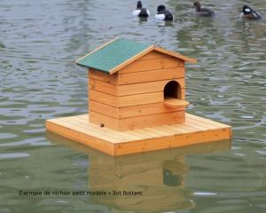 Ilot flottant et nichoire à chicane petit modèle pour canards