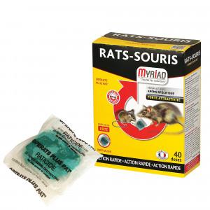 Pâte souricide et raticide Myriad, 40 doses