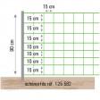 Filet électrifiable, 50 m x 0,90 m, pour mouton