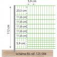 Filet électrique volaille, 50 m x 1,12 m