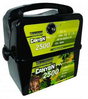 Electrificateur batterie 9V/12V Beaumont Canyon 2500