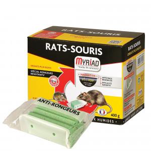 Blocs appâts Myriad pour rats et souris, 400 Gr
