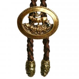 Bolo cravate cerf en bronze