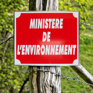"""Panneau """"MINISTÈRE DE L'ENVIRONNEMENT"""" en aluminium 30 x 25 cm"""