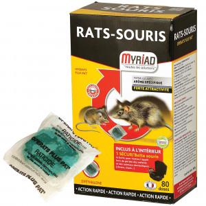 Pâte souricide et raticide Myriad, 80 doses