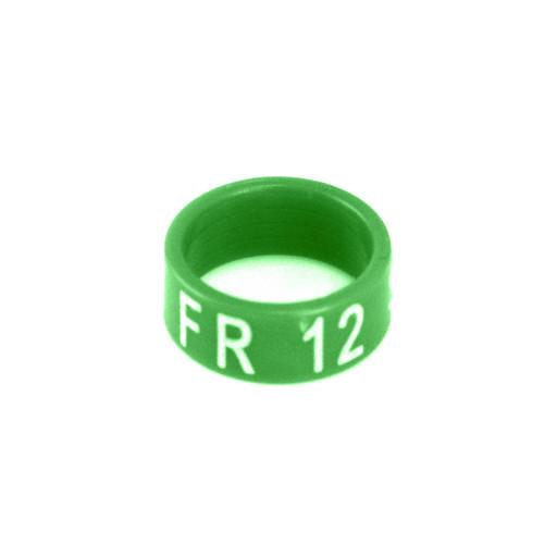 Bague en résine fermée 2018 Ø 12 mm, par 25