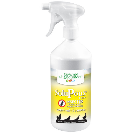 SoluPoux Spray 1 L - insecticide naturel