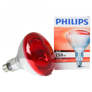 Ampoule Infrarouge Philips 250W, rouge