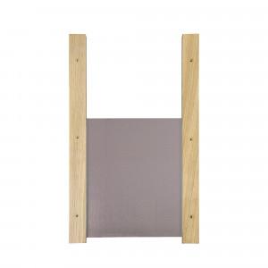 Trappe de poulailler coulissante bois et aluminium